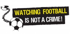 watching football is not a crime logo ball and chain10