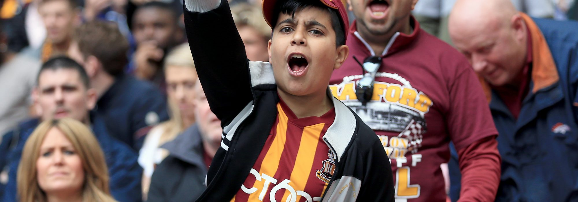 Bradford City fans show their support