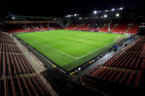 A view of an empty stadium before the Premier League match at Bramall Lane, Sheffield.
